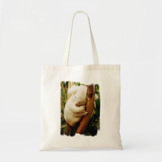 White Koala Bear Small Tote Bag