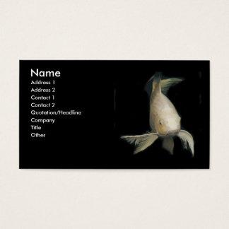 White Koi Business Card
