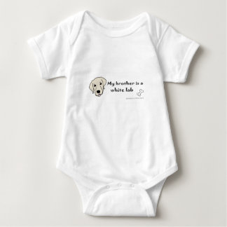 white lab baby bodysuit