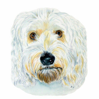 White Labradoodle Maggie Sculpture Standing Photo Sculpture