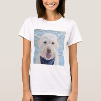 White Labradoodle Water Baby T-Shirt