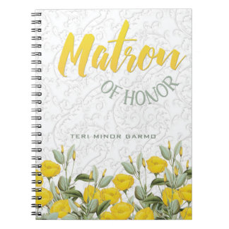 White Lace and Floral #2 Matron of Honor Notebook