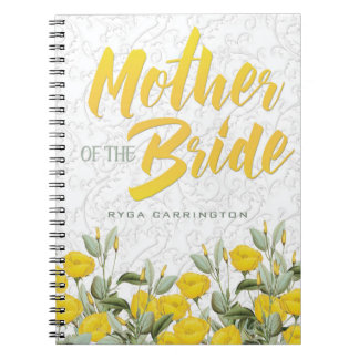 White Lace and Floral #2 Mother of the Bride Notebooks