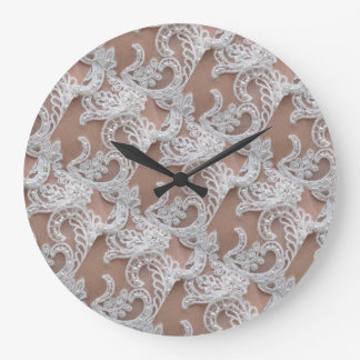 White Lace Bedroom Wall Clock