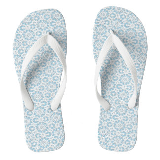 White Lace Effect - Pick The Colour Flip Flops Thongs