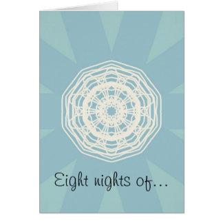White Lace Hanukkah Card