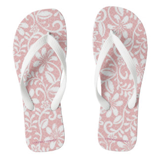White Lace on Pink Thongs