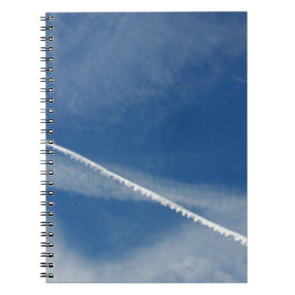 white lace on the sky notebook