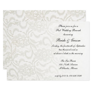 White Lace Post Wedding Brunch Invitation