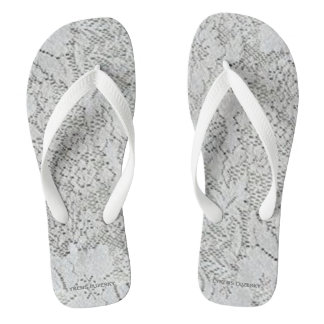 White Lace Thongs