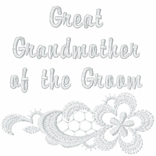 White Lace Wedding -  Great Grandmother - Groom