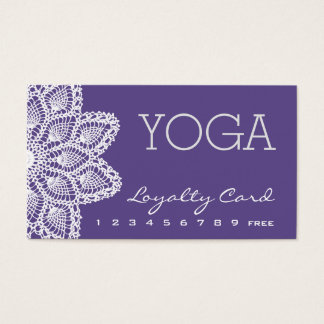 White Lace Yoga Loyalty Card - Ultra Violet