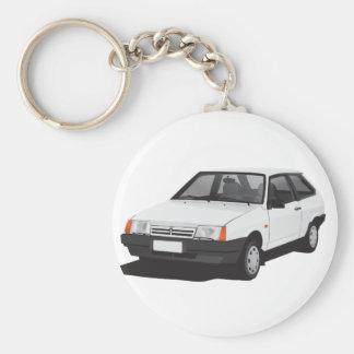 White Lada Samara   VAZ-2109 Key Ring