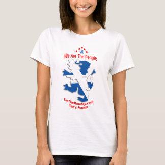 white ladies saltire tshirt