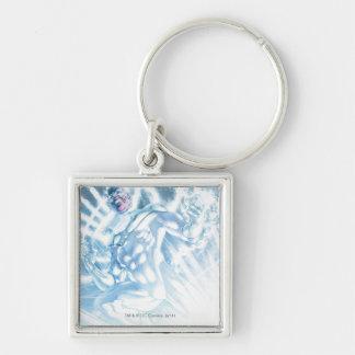 White Lantern Corps - Color Silver-Colored Square Key Ring