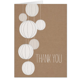 White Lanterns Cardstock Inspired Thank You Cards