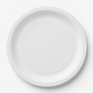 White Large Paper Plate