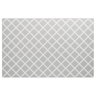 White Lattice on Ash Grey Fabric
