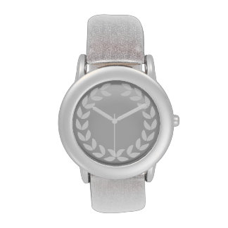 White laurel monogram watch