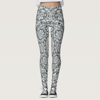 White Leaf  Custom Leggings