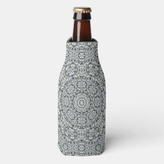 White Leaf  Kaleidoscope Custom Bottle Cooler