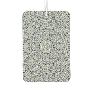 White Leaf Pattern Air Fresheners, 4 styles Car Air Freshener