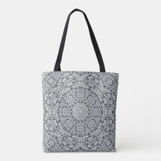 White Leaf Pattern  All-Over-Print Tote Bag