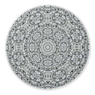 White Leaf Pattern   Ceramic Knobs And Pulls