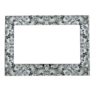 White Leaf Pattern   Magnetic Picture Frames
