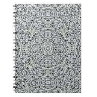 White Leaf Pattern  Notebook