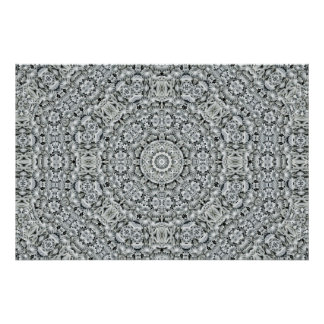 White Leaf Pattern Posters