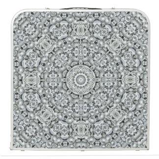 "White Leaf  Vintage Kaleidoscope  48"" Pong Table"