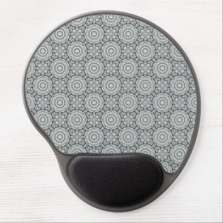 White Leaf  Vintage Kaleidoscope Gel Mousepad