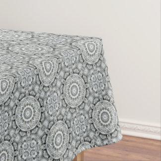 White Leaf  Vintage Kaleidoscope  Tablecloth