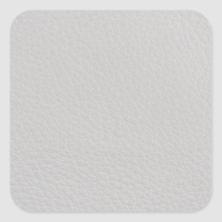 White leather square sticker