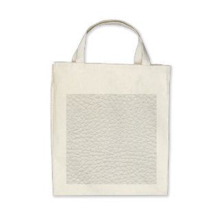 White Leather Texture Bag