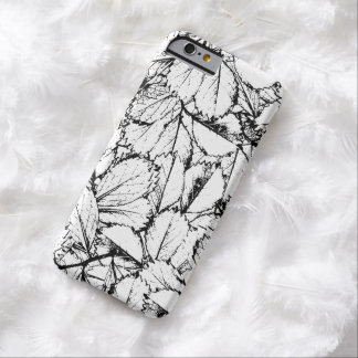 White Leaves Barely There iPhone 6 Case