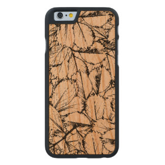 White Leaves Carved Cherry iPhone 6 Case