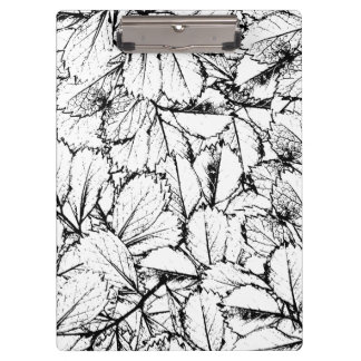 White Leaves Clipboard