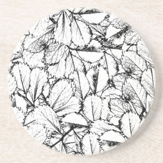 White Leaves Coaster