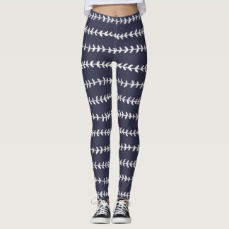 White Leaves Contrast Leggings