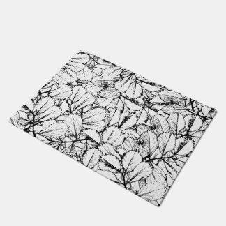 White Leaves Doormat