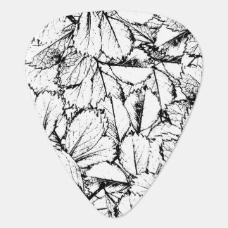 White Leaves Guitar Pick