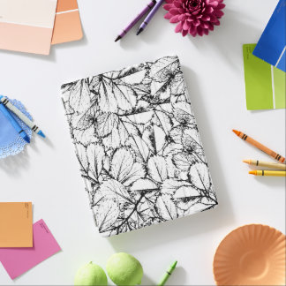 White Leaves iPad Cover