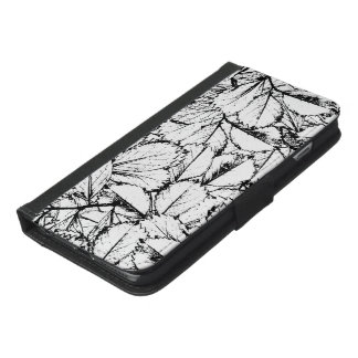 White Leaves iPhone 6/6s Plus Wallet Case