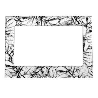 White Leaves Magnetic Frame