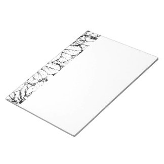 White Leaves Notepads