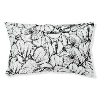 White Leaves Pet Bed