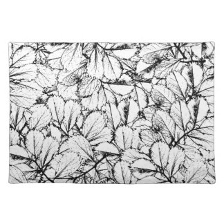 White Leaves Placemat