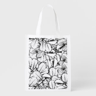 White Leaves Reusable Grocery Bag
